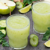 Detox cocktail of green apple, celery and lime Royalty Free Stock Photos