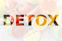 Detox, consommation saine et concept végétarien de régime Photo libre de droits