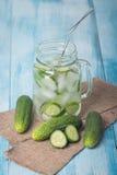 Detox cucumber diet drink Stock Image