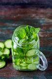 Detox cucumber and mint diet drink, healthy summer cooler. Stock Images