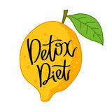Detox Diet. The trend calligraphy Royalty Free Stock Image
