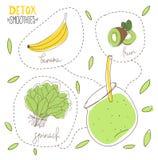 Detox diety Smoothie Zdjęcie Stock