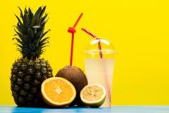 Detox domowej roboty diety mieszane owoc obraz royalty free