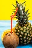 Detox domowej roboty diety mieszane owoc fotografia stock