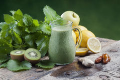 Detox drink for a vegetarian diet nettles shake Royalty Free Stock Photography