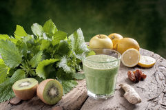 Detox Drink With Nettles Stock Photo