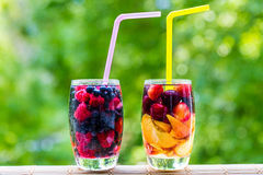 Detox fruit berry water coctail Royalty Free Stock Image