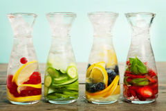 Detox fruit infused flavored water Royalty Free Stock Image