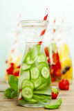 Detox fruit infused flavored water Royalty Free Stock Photography