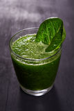 Detox green smoothie Royalty Free Stock Images