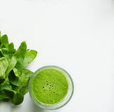 Detox groen sap Royalty-vrije Stock Foto's
