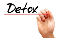 Detox. Hand writing Detox with marker, health concept Royalty Free Stock Photos