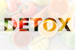 Detox, healthy eating and vegetarian diet concept Royalty Free Stock Photo