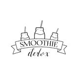Detox Logo Isolated de Smoothie Image stock