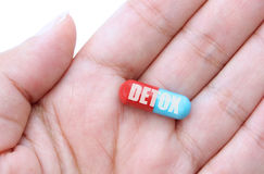 Detox pill Royalty Free Stock Image