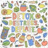 detox Rimuova lo stress deflazioni illustrazione vettoriale