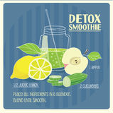 Detox smoothie Stock Foto's