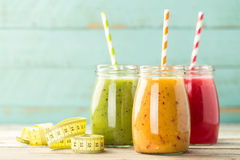 Detox smoothie drinks Stock Photography