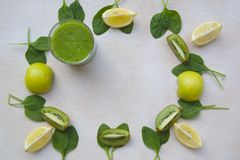 Detox smoothie ingredients background Royalty Free Stock Photography
