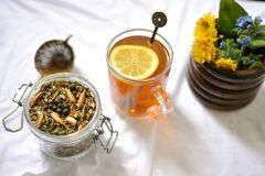Free Detox Tea Health, Weight-loss Claims Are That It  Helps Maintain A Healthy Immune System, Cleanses Your Digestive System, Suppo Royalty Free Stock Photos - 180835068
