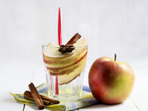 Detox water with apple, cinnamon and anise Stock Image