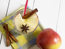 Detox water with apple, cinnamon and anise Royalty Free Stock Image