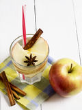 Detox water with apple, cinnamon and anise Stock Photo