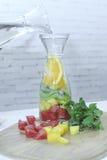 Detox water bottle Royalty Free Stock Photos