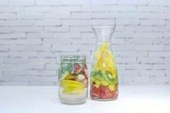 Detox water bottle Stock Photos