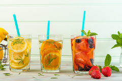 Detox water cocktails Royalty Free Stock Image