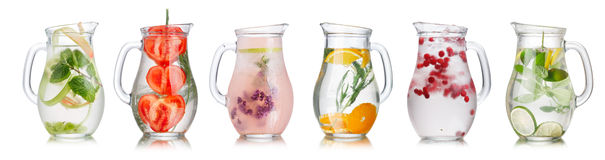 Detox water collection Royalty Free Stock Image