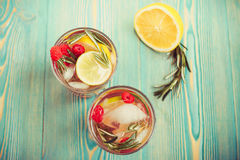 Detox water in cups Stock Image