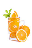 Detox Water with water, fruitage, strawberry, lemon, green, dess Royalty Free Stock Images