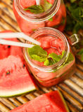Detox water with watermelon and mint Royalty Free Stock Photography
