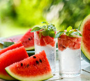 Detox water with watermelon and mint Royalty Free Stock Image