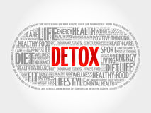 DETOX word cloud, fitness Royalty Free Stock Photography