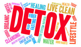 Detox Word Cloud Royalty Free Stock Image