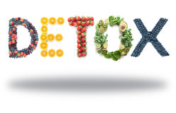 Free Detox Word Made From Fruits And Vegetables Stock Images - 76801504