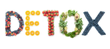 Free Detox Word Made From Fruits And Vegetables Royalty Free Stock Photo - 82240875