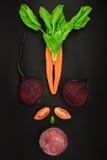 Detoxbegrepp, nya ingredienser på svart bakgrund Royaltyfri Fotografi