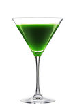 Detoxing organic green cocktail isolated on white Royalty Free Stock Photography