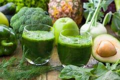 Detoxings groene smoothie Royalty-vrije Stock Fotografie