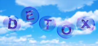 Detoxordet i bubbla stock illustrationer
