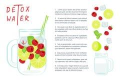 Detoxwasser mit Früchten Lizenzfreie Stockfotos