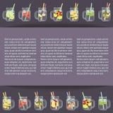 Detoxwasser mit Früchten Stockfotografie