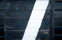 Detqil av den svartvita väggen av en strandkoja. Royaltyfria Bilder