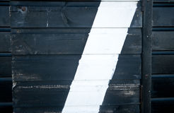 Detqil of black and white wall of a beach hut. Royalty Free Stock Images