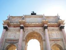 Detrás de Arc de Triomphe du Carrousel Foto de archivo
