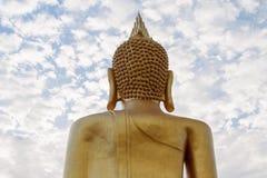 Detrás de buddha Foto de archivo libre de regalías