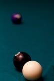 Detrás de la bola ocho Imagen de archivo libre de regalías